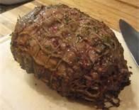 Cooked roast lamb
